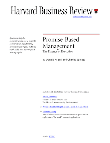 Promise-Based Management - The Essence of Execution