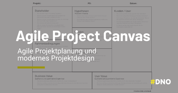Agile Project Canvas - Projektplanung und Projektdesign
